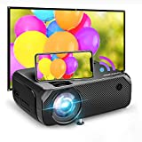 Bomaker 2021 Upgraded Native HD WiFi Mini Projector, 200 ANSI Lumen TV Projector, Native 1280x720P,...