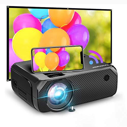 Bomaker 2021 Upgraded Native HD WiFi Mini Projector, 200 ANSI Lumen TV Projector, Native 1280x720P,...
