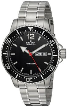 Edox Men's Chronorally -S Quartz Sport Watch with Stainless-Steel Strap, Silver, 20 (Model: 84300 3M NBN)