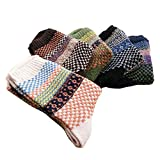 Kobay 5 paires Hommes Chaussettes Laine Chaudes Imprimées Tricot