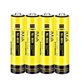 4-Pack iMah AAA Rechargeable Batteries 1.2V 550mAh Ni-MH, Also Compatible with Panasonic Cordless Phone Battery HHR-55AAABU HHR-75AAA/B, Toys and Outdoor Solar Lights