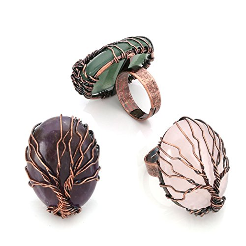 Top Plaza Handmade Retro Vintage Copper Wire Wrapped Tree of...