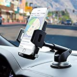 Amoner Car Phone Mount, Phone Holder for Car Dashboard Windshield with Strong Adhesive Suction Cup Compatible with iPhone 11 Pro/XS Max/X/8 Plus/8/7, Galaxy S10/S9/S8/S7, LG,REDMI Note and More