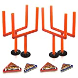 ArtCreativity Flick Football Games, Set of 2, Mini Table Top Sports Games with Posts and Foam Footballs, Indoor Finger Games for Kids, Office Desk Toys, Sports Party Favors (Toy)