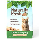 Naturally Fresh Walnut-Based Quick-Clumping Cat Litter, Unscented, 14-lb bag (22002)