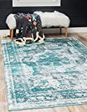 Unique Loom Sofia Traditional Area Rug, 8' 0 x 10' 0, Turquoise
