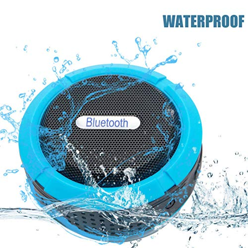Portable Bluetooth Speakers Mini - MASO 5W Driver Wireless Shower Speakers with Bluetooth Waterproof hifi Speaker Boombox Mini SUPER BASS 3.0 Touch Speakers 6H playtime for Echo Dot, iPhone, iPad, Sam