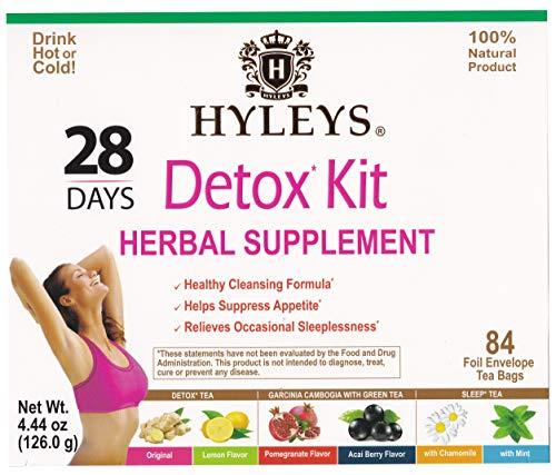 Hyleys Tea 28 Days Detox Kit - 84 Tea Bags - (100% Natural, Sugar Free, Gluten Free and Non-GMO) 2