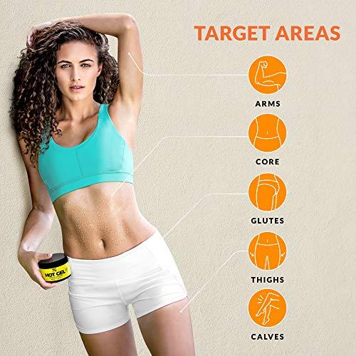 Hot Vita Hot Gel – Sweat Cream Workout Enhancer Belly Slimming Gel (4 oz) 2