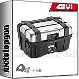 givi maleta trekker black line trk46n + porta-equipaje compatible con kymco k-xct i 300 2013 13