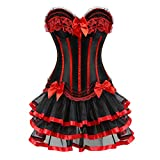 Women Halloween Costume Gothic Victorian Corsets Burlesque Dresses Moulin Rouge Black Small