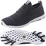 Dreamcity Men's Water Shoes Athletic Sport Lightweight Walking Shoes Darkgrey