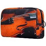 Neceser de viaje de nailon, bolsa de afeitado, organizador de artículos de tocador, instrumentos musicales, violonchelo retro