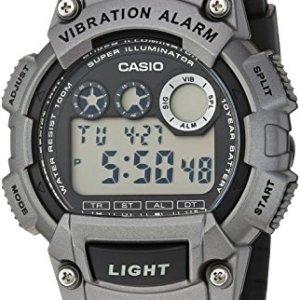 Casio Men's 'Super Illuminator' Quartz Resin Casual Watch, Color:Black (Model: W-735H-1A3VCF) 8