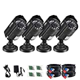 ZOSI 4PK 1920TVL 1080P 4-in-1 HD TVI/CVI/AHD/CVBS Security Camera 3.6mm Lens 24 IR-LEDs 2.0MP CCTV Camera Home Security Day/Night Waterproof Camera for 960H/ 720P / 1080N / 1080P Analog DVR Systems