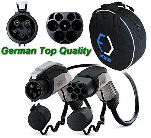 10% DESCUENTO!! PHOENIX CONTACT Alemán cable de carga superior (mejorada la segunda generación) Tipo2 - Tipo1 | 32 A | 1Phase | longitud 4 m | 7,4 KW + incluye bolsa compacta de transporte