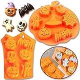 2 Piezas Halloween Silicona Molde,Hornear de Silicona Molde...