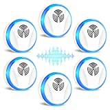 6 Packs Ultrasonic Pest Repeller, APRESUNDAY Electronic Pest Repellent Plug in Indoor Pest Control for Insect, Roach, Mice, Spider, Ant, Bug, Mosquito Repellent for House Garage Warehouse Office Hotel