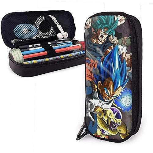 Astuccio portamatite in pelle di design anime Astuccio per cancelleria per scuola Dragon Ball Astuccio super cusomizzato