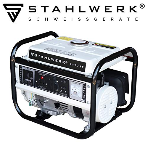 STAHLWERK Stromgenerator SG-30 ST, 3 PS, Benzingenerator, Notstrom-Aggregat, zuverlässig und leistungsstark, intuitive Bedienung, verbrauchseffizient und wartungsarm