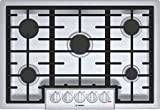 Bosch 800 Series 30' Stainless Steel 5 Burner Gas Cooktop