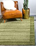 Unique Loom Del Mar Collection Contemporary Transitional Area Rug, 5' x 8', Light Green/Beige