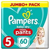 Pampers - Baby Dry Pants - Couches-Culottes Taille 5 (12-17 kg) - Jumbo+...