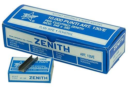 10 Scatoline da 1000 punti - TRASPORTO INCLUSO Punti in acciaio naturale per cucitrici Zenith...