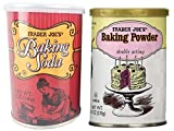 Trader Joe's Baking Powder Double Acting 8.1 oz. and Baking Soda 12 oz.