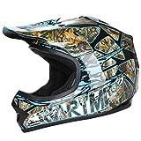 CARTMAN DOT Youth Motocross Helmet Offroad Street Skull Motorcycle Full Face Child Helmet Dirt Bike Blue,M