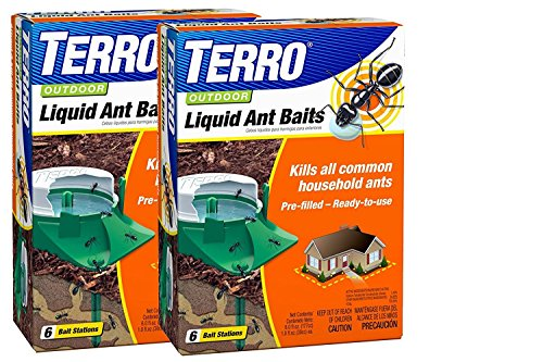 Terro Outdoor Liquid Ant Baits 6 Bait Stations Pack of 2