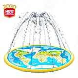 ACSTEP Splash Pad, Outdoor Sprinkler for Kids, Inflatable Splash Play Mat Summer Sprinkler Water Toys for Toddlers,Kids and Babies Gifts, Outdoor Swimming Pool Splash Pad Pool for Babies and Toddlers