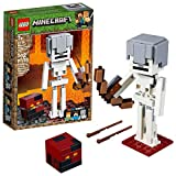 LEGO Minecraft BigFig Skeleton with Magma Cube Building Kit, 2019 (142 Pieces)