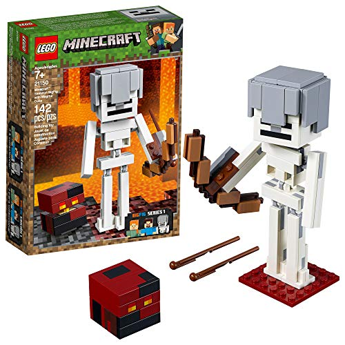 LEGO Minecraft BigFig Skeleton with Magma Cube Building Kit (142 Pieces)