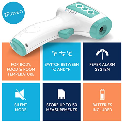iProven-No-Touch-Thermometer-for-Adults-Kids-Babies-No-Touch-Medical-Digital-Thermometer-Safe-and-Hygienic-With-Infrared-Technology-Fever-Indication-and-Silent-Mode-NCT-978