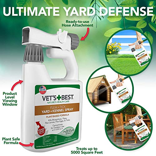 Vet's Best Flea and Tick Yard and Kennel Spray | Yard...
