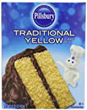 Pillsbury Traditional Cake and Cupcake Baking Mix, Yellow, 15.25 Ounce (Pack of 12)