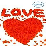 Sunarrive 4000pcs Petales de Roses Rouge Artificielle - Petale Rouge Fausse...