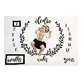 Amorar Nouveau née Couverture de Props de photographie, Baby Props imprimé Coton Mensuel Milestone Wrap Swaddle Couvertures, cadeau de Shower de bébé