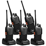 Retevis H-777 2 Way Radios USB Walkie Talkies UHF 16CH Long Range Rechargeable Two Way Radios with Flashlight for Adults (5 Pack)