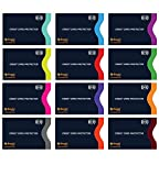 Set of 12 RFID Blocking Sleeves by Boxiki Travel | 12 Credit Card Protector Holders | Identity Theft Protection Secure Sleeves for Credit Cards, Debit Cards (Navy Blue)