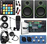 "PreSonus AudioBox 96 Audio Interface Full Studio Kit with Studio One Artist Software Pack w/ATOM Midi Production Pad Controller w/Mackie CR3 Pair Studio Monitors and 1/4"" TRS to TRS Instrument Cable"