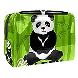 Kit de Maquillaje Panda de Dibujos Animados de bambú Neceser Makeup Bolso de Cosméticos Portable Organizador Maletín para Maquillaje Maleta de Makeup Profesional