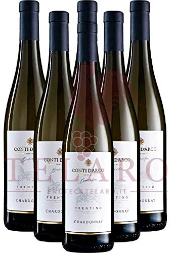 Chardonnay DOC Conti D'Arco 2019 Box 6 Bottiglie Offerta Promo Bianco Trentino