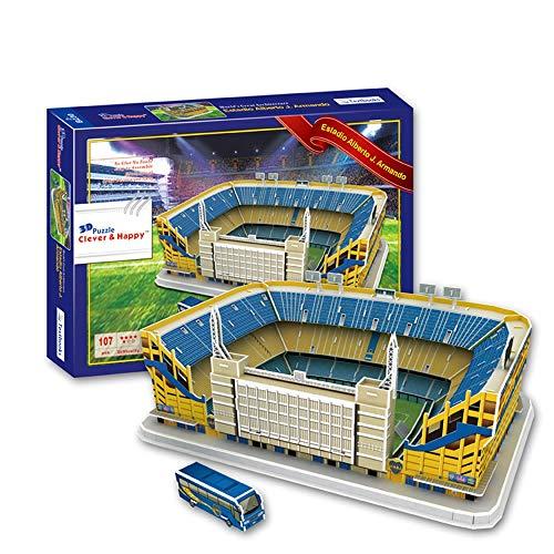 EP-model Sports Stadium Modello 3D, Argentina Boca Junior Club Candy Box Stadio Modello Fan Souvenir Puzzle Fai da Te, 16'X 12' X 7'
