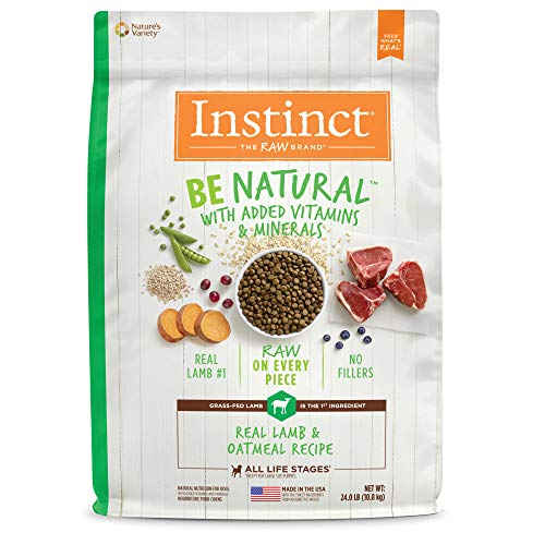 Instinct Be Natural Real Lamb & Oatmeal Recipe Natural Dry Dog Food by Nature's Variety, 24 lb. Bag