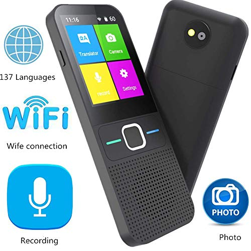 Language Translator Device Portable Translator All Languages 137 Languages WiFi Offline Two-Way Instant Voice Translator for Learning Travelling