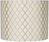 Embroidered Hourglass Lamp Shade 14x14x11 (Spider) - Springcrest