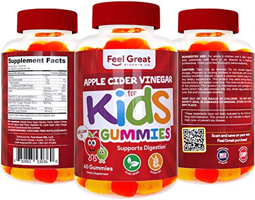 Feel Great Vitamin Co. Apple Cider Vinegar Gummies for Kids | Digestive & Immunity Support* | Healthy Gut Support for Children* | Natural Digestive Enzymes & Digestive Support for Boys and Girls 9