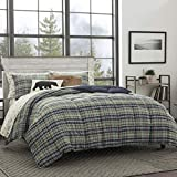 Eddie Bauer Home | Rugged Collection | Bedding Set-Soft and Cozy, Reversible Plaid Down Alt Comforter, Full, Navy